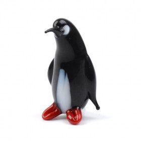 Tiny Penguin Glass Figurine