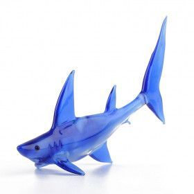 Beautiful Blue Shark Glass Art