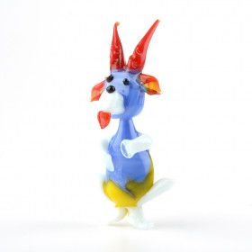 Blue Goat Glass Figurine