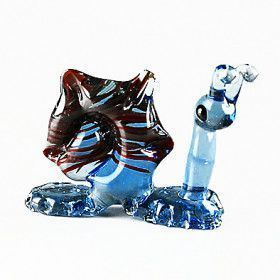 Snail Glass Figurine