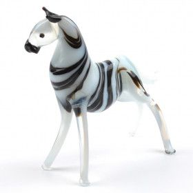 Zebra Glass Figurine