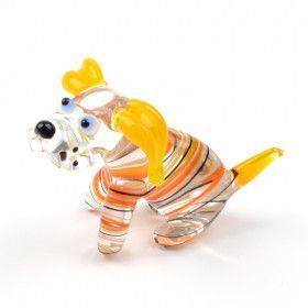 Obedient Doggy Glass Figurine