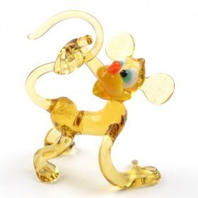 Funny Monkey Glass Figurine