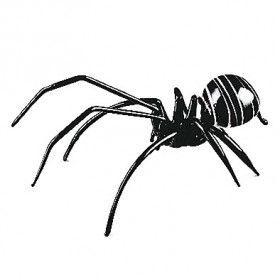 Black Huge Spider Glass Figurine