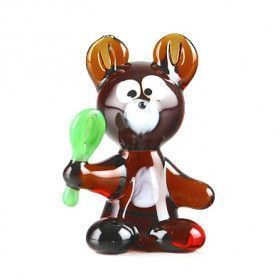 Teddy Bear Glass Figurine