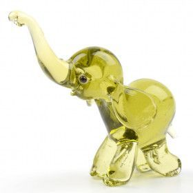 Hand Blown Glass Elephant