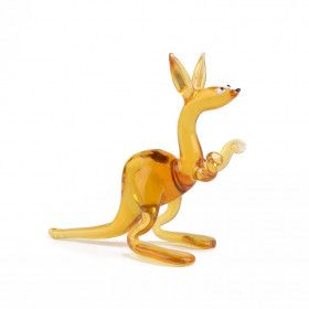 Kangaroo Animal Glass Figurine