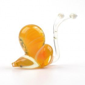 Curious Snail Glass Figurine
