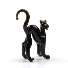 Tiny Black Panther Glass Figurine