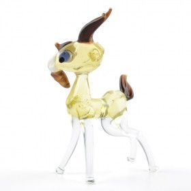 Young Goat Glass Figurine
