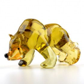 Bear Glass Figurine