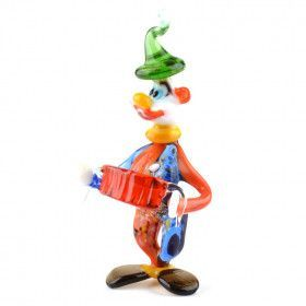 Bright Juggling Clown Glass Figurine