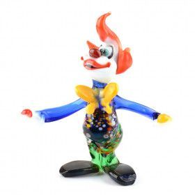 Juggling Clown Glass Figurine