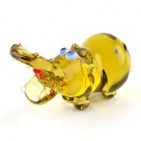 Papa Hippo Glass Figurine