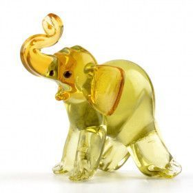 Elephant Glass Figurine