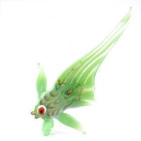 Green Fish Glass Figurine