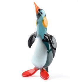 Handsome Penguin Glass Figurine