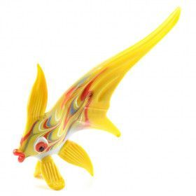 Yellow Fish Glass Figurine