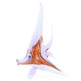 Purple Angel Fish Glass Figurine