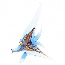 Blue Angel Fish Glass Figurine