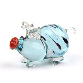 Pot-bellied Pig Glass Figurine