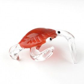 Red Crab Glass Figurine