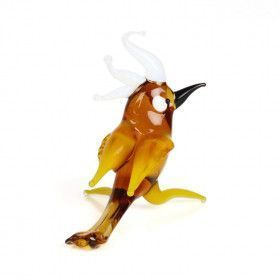 Cockatoo Bird Glass Miniature