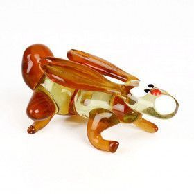 Sprinting Bunny Glass Figurine