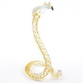 Spiral Cobra Glass Figurine