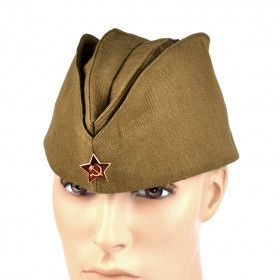 Authentic Russian Soviet Soldier Field Cap