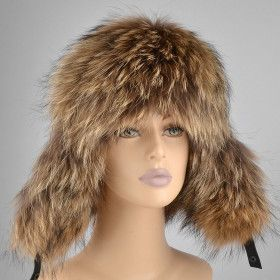 Russian Womens Raccoon Fur Bomber Hat