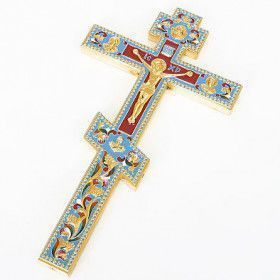 Russian Orthodox Priest Altar Ceremonial Enameled Orthodox Cross