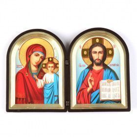 Jesus Christ & Kazan Mother Of God Diptych