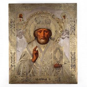 Antique Icon - Holy Nicholas the Wonderworker