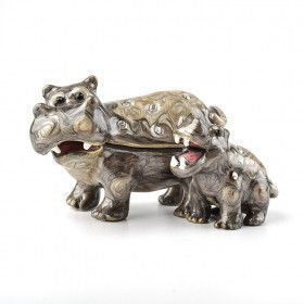 Hippo Family Trinket Box