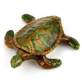 Brown Turtle Trinket Box
