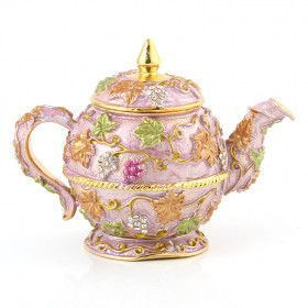 Pink large Teapot Trinket Box