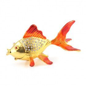 Lucky Golden Fish Trinket Box