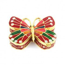 Red Butterfly Keepsake Box
