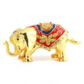 Golden Indian Elephant Trinket Box