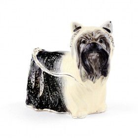 Jeweled Yorkie Dog Trinket Box