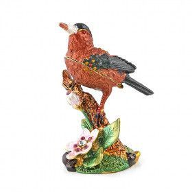 Red Robin Bird on Branch Keepsake Box