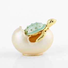 Hatching Baby Turtle Trinket Box