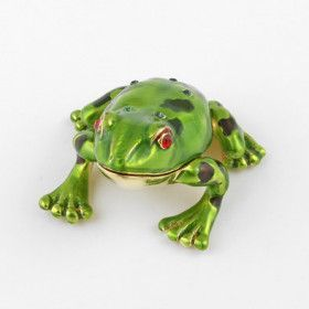 Red Eyed Frog Trinket Box