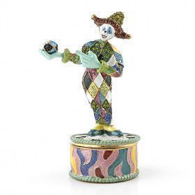 Juggling Old Fashion Clown Trinket Box