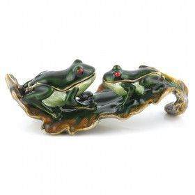 Kissing Frogs Trinket Box