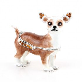 Adorable Chihuahua Dog Trinket Box