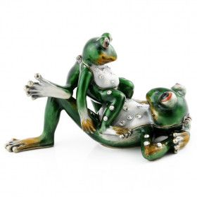 Relaxing Frog Family Trinket Boxes