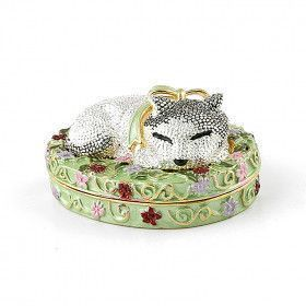 Napping Cat Keepsake Box