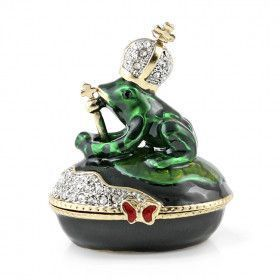 Frog Prince Jeweled Keepsake Box